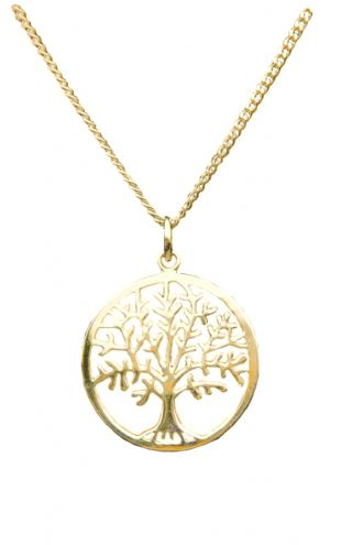 18k Yellow Gold Vermeil TREE OF LIFE YGGDRASIL